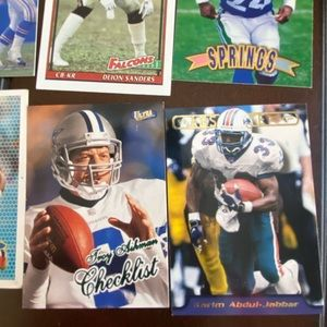 NFL trading cards variety